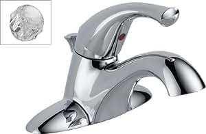 Delta 521-DST-A Classic Single Handle Centerset Lavatory Faucet, Chrome