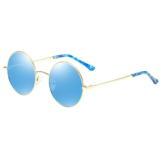 Mxssi polarizado redondo Retro Vintage Gafas de sol Redondas ...