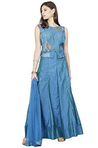 Manmandir Womens Cotton Silk Ghagra Choli Set Readymade (Salwar Suits for Women) (Choli Suit)