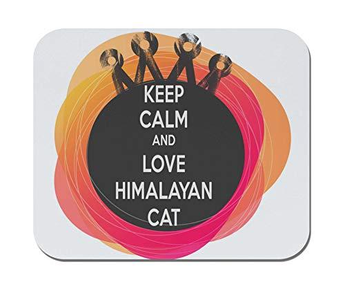 (Makoroni - Keep Calm and Love Himalayan CAT - Non-Slip Rubber Mousepad, Gaming Office Mousepad)
