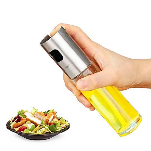 Koopower Olive Oil Sprayer, Food-Grade Glass Oil Spray Bottle Vinegar Bottle Oil Dispenser with Stainless Steel Funnel for Cooking, Salad, BBQ, Kitchen Baking, Roasting …
