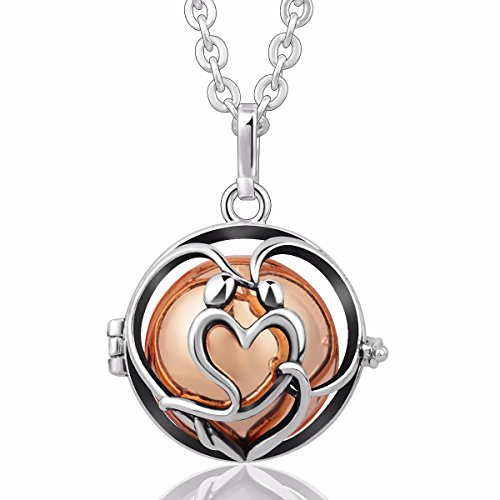 EUDORA [in Love] Harmony Bola Angel Chime Caller 20mm Mexican Ball Music Pendant Prayer 30''Necklace Rose Gold