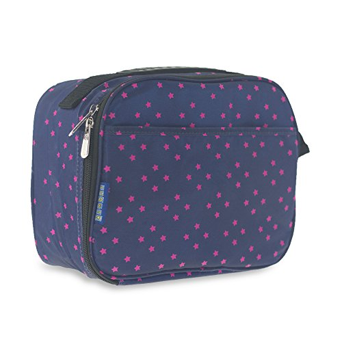 Lunch Box YUMBOX Lunch Bag. Insulated, Compact and Easy to Clean, Ages 3+, Perfect for Kids or Parents. Fits lunch box, snack and drink – Midnight Blue with Stars - Lunch Bag Yumbox Box
