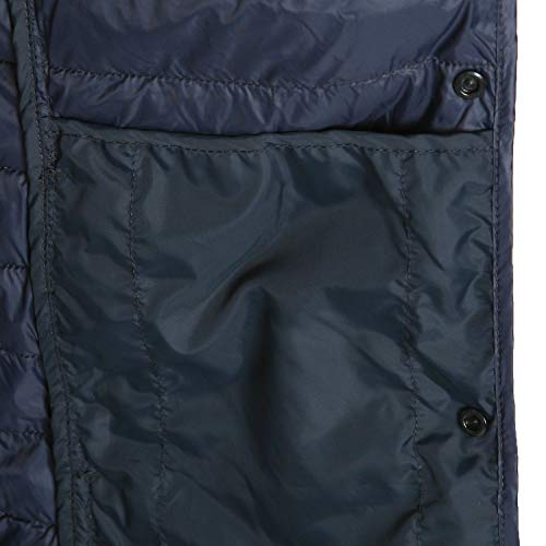 Vest Neck Light Round Down Coat Quilted Padded Waist Ililily Ultra Grey Duck qw4Xxn06