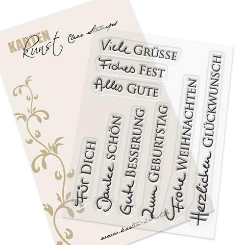 Kartenkunst Clear Stamp Juego de Sello de Goma Tarjetas de ...