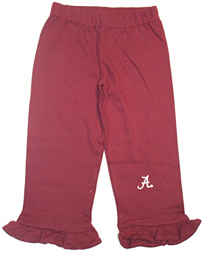 NCAA Officially Licensed Alabama Crimson Tide Embroidered Logo Scalloped Pants (2T)