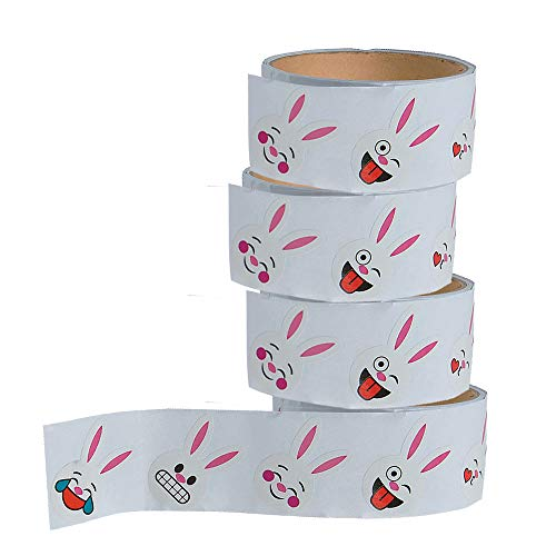 Bunny Stickers for Kids - 4 Rolls Assorted