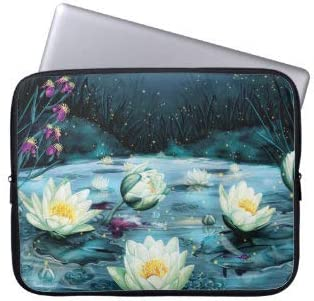 Lotus Pond Laptop Sleeve Bag Notebook Computer PC Neoprene Protection Zipper Case Cover 15 Inch