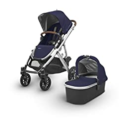 The VISTA stroller adapts to your growing family allowing for multiple configurations to transport up to 3 children- all while strolling like a single The 2018 collection features new luxurious fabrics and full-grain leather details to keep y...