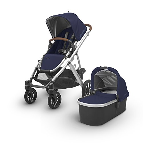 2018 UPPAbaby Vista Stroller- Taylor (Indigo/Silver/Saddle Leather)
