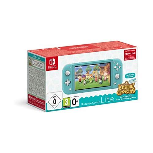 chollos oferta descuentos barato Nintendo Switch Lite Turquesa Animal Crossing New Horizons 3 meses Nintendo Shop Online