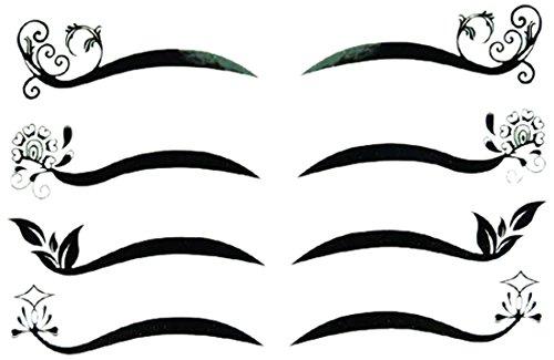 Linda Fashion Alternate Eyeliner Sticker, Black, 12 - Linda Fashion
