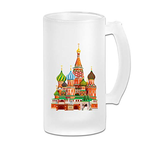 Color Russian Architecture Frosted Glass Tumbler Beer Cup 16 Oz Water Glass Drinkware