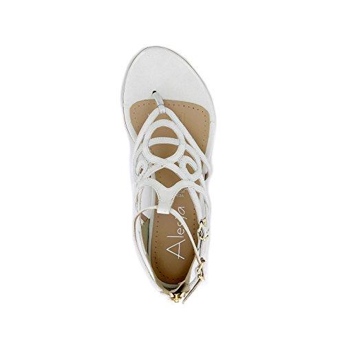Bassi Alesya amp;scarpe Scarpe By Bianco Sandali Donna 11TIgx6pqw