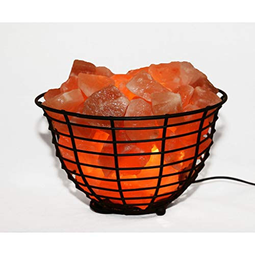 Manhattan Comfort Accentuations by 9-inch Himalayan Wired Basket Lamp with Natural Rocks by Manhattan Comfort (Image #2)