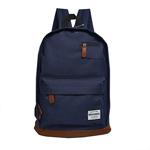 DRACONITE Classic Travel Laptop Backpacks School Bookbags (Dark Blue)