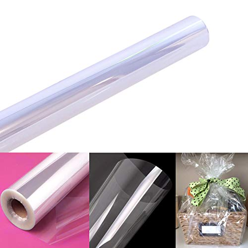 Clear Cellophane Wrap Roll | 100' Ft. Long X 31.5 in. Wide | 2.3 Mil Thick Crystal Clear | Gifts, Baskets, Arts & Crafts, Treats, Wrapping | Meets FDA Specifications | by Anapoliz