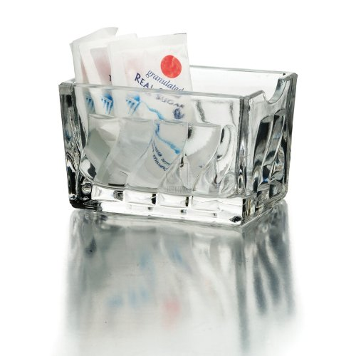 Home Essentials Essential for Home Faceted Glass Sugar Packet Holder, Clear Home Essentials & Beyond 3502