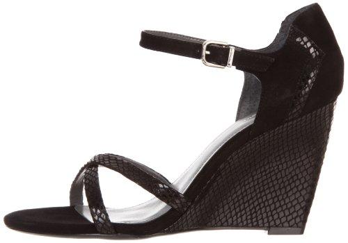 Calvin Klein Women's Camila Wedge Sandal, Black, 10 M US
