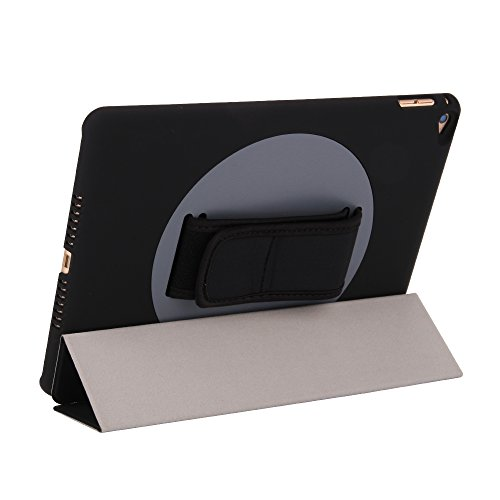 iPad Air 2 Case,GOLP-360 Degree Handhold Rotating Foldable PU Leather iPad 6 Smart Case Frosted Back Magnetic Cover with Auto Wake & Sleep Function for Apple iPad Air 2 / iPad 6