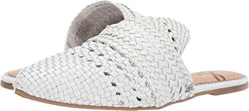 Sam Edelman Women's Natalya White Woven Metallic Leather 8.5 M US