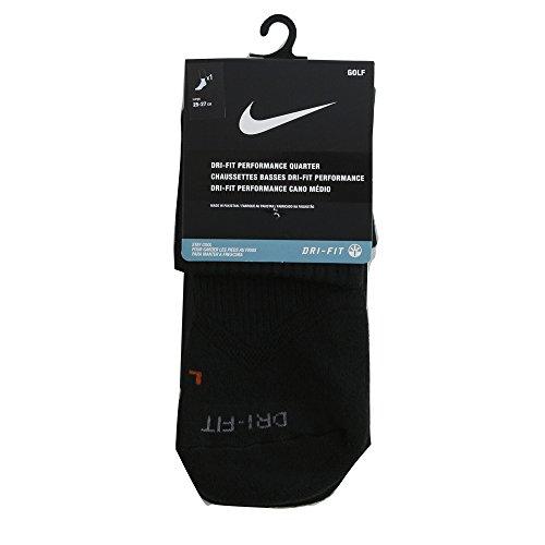 Nike 2016 Dri-fit Performance Quarter Socks Calzini Sportivi Da Uomo Nero / Grigio Freddo
