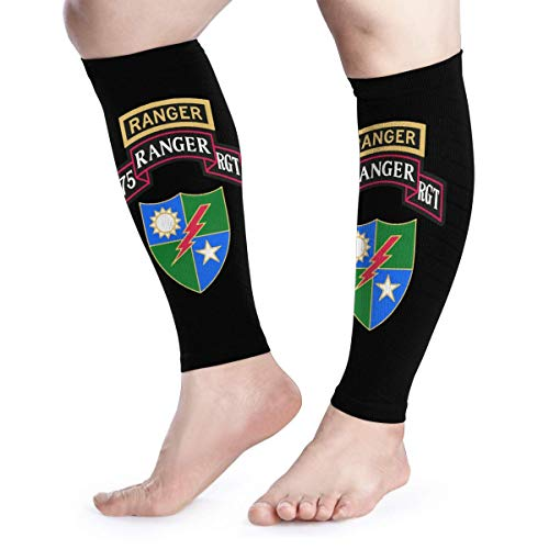 Calf Compression Sleeves Rangers Creed US Army Rangers Leg Support Socks for Women Men 1 Pair -