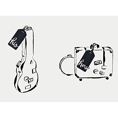 Kate Spade New York Women's Luggage Tag, Two of A Kind (his/hers), black, No No Size
