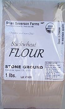 Organic Buckwheat Flour, Stone Ground Fresh, 1 lb., Farmer Direct, Organic, non-GMO, IP