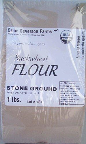 Price comparison product image Organic Buckwheat Flour,  Stone Ground Fresh,  1 lb.,  Farmer Direct,  Organic,  non-GMO,  IP