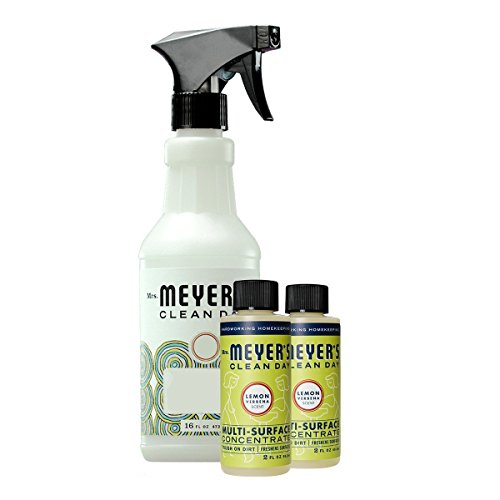 Mrs. Meyer's Multi-surface Concentrate Variety Pack, 1 Empty Spray Trigger Bottle, 2 Multi-Surface Concentrate Lemon Verbena , 3 CT