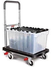Magna Cart MFF robuste, faltbare Transportkarre aus Aluminium, kompakt, platzsparend, leichtgewichtig, Ladekapazität 135kg