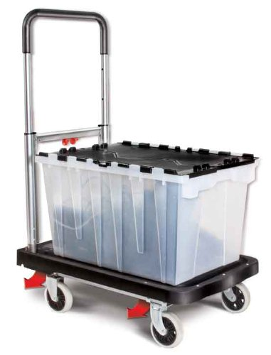 36 Ultra Bins - Magna Cart Flatform 300 lb Capacity Four Wheel Folding Platform Truck