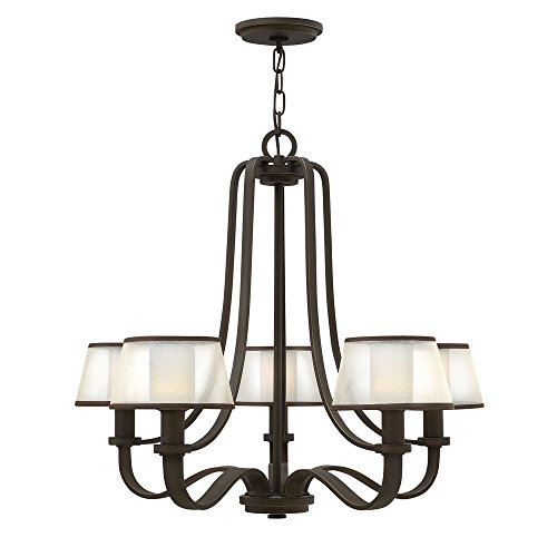 (Hinkley 4965OB Traditional Five Light Chandelier from Prescott collection in Bronze/Darkfinish,)