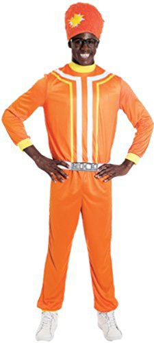 Paper Magic Men's Yo Gabba Gabba Dj Lance Costume, Orange, (Adult Yo Gabba Gabba Costumes)
