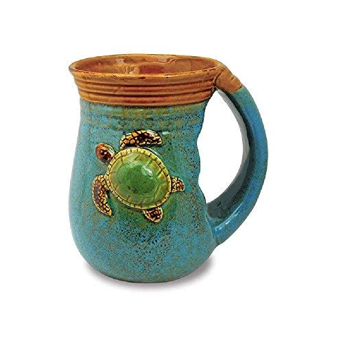 Cape Shore 18oz Stoneware Handwarmer Mug - Multiple Styles Available (Turtle) (Mugs Warmer Hand Clearance)