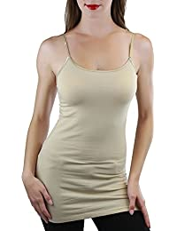 ToBeInStyle Women's Long Tank Top w/ Adjustable Spaghetti Straps