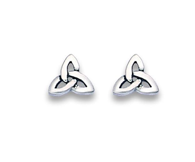 Sterling Silver Celtic triangle Stud Earrings - SIZE: 6mm. Gift Boxed Silver Celtic Earrings. 5175/B41HN h8kcU