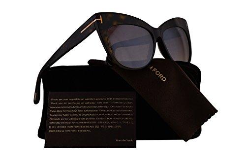 Tom Ford FT0523 Nika Sunglasses Dark Havana w/Brown Gradient Mirror Lens 52G TF523 FT523 FT 523 TF - Jennifer Ford Tom Sale Sunglasses