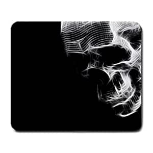 Black and White Skull Art Mouse Pad