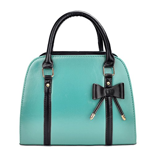 PU Bags Women Shoulder Handbags Handle Leather Top with Zhaoke Light Yellow blue gwXdEnqWSg