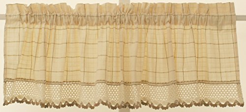 Ensemble Crochet Pattern - Adirondack Homespun Ensemble 100% cotton Ecru/Toast Insert Valance