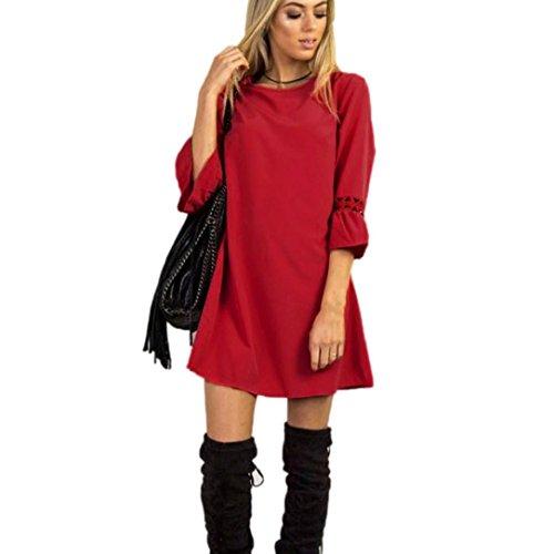 de Plage Robe la robe Mini mode Tunique de de Crayon Soire longues manches robe robe d't Robe dames Robe Imprimee Courte vider de URSING Casual Fte Robe de mini Rouge Jupon Femmes soire FcEgwqBWA1