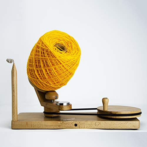 STAR INDIA CRAFT Handmade Center Pull Yarn Ball Winder - Natural Yarn Winder   Perfect DIY Knitter's Gifts for Knitting and Crocheting   Handcrafted Ball Winder (Yarn Winder, Standard) by STAR INDIA CRAFT (Image #6)