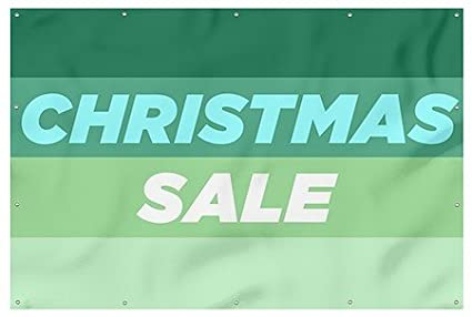 cgsignlab christmas sale modern gradient 16oz heavy duty outdoor vinyl banner with - Amazon After Christmas Sale