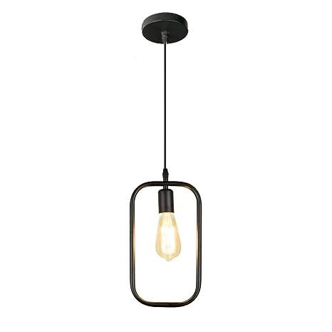 Moderna jaula negra luces colgantes de hierro minimalista retro ...