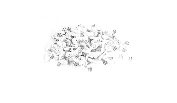 eDealMax puntada de la cruz 30x15x16mm marco de plástico solo gancho de percha blancos 200pcs - - Amazon.com