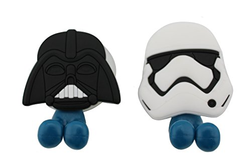 FinexSet of 2 STAR WARS Darth Vader & Stormtrooper Toothbrush Holders with Suction Cup for wall in bathroom at home by Finex