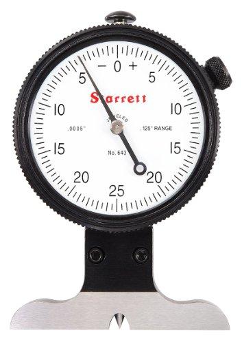 (Starrett 643J 643 Series Dial Depth Gauge, Indicator Type, 0-0.125