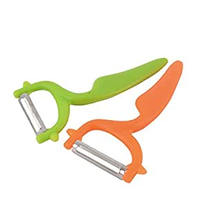 uxcell Curved Handle Household Kitchen Fruit Vegetable Peeling Peeler 2 PCS